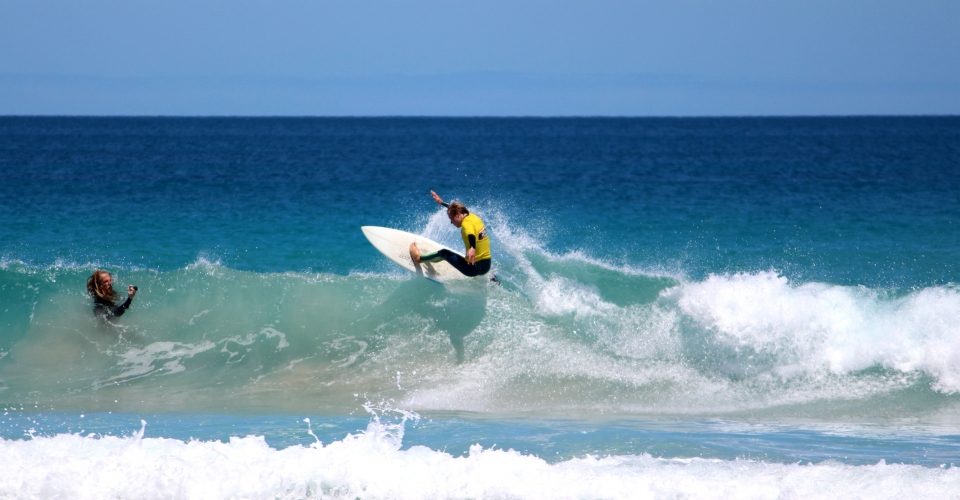 Berry Bay surfing by Lochie Cameron